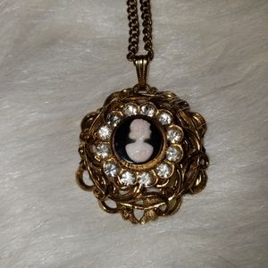 Unsigned Cameo Necklace